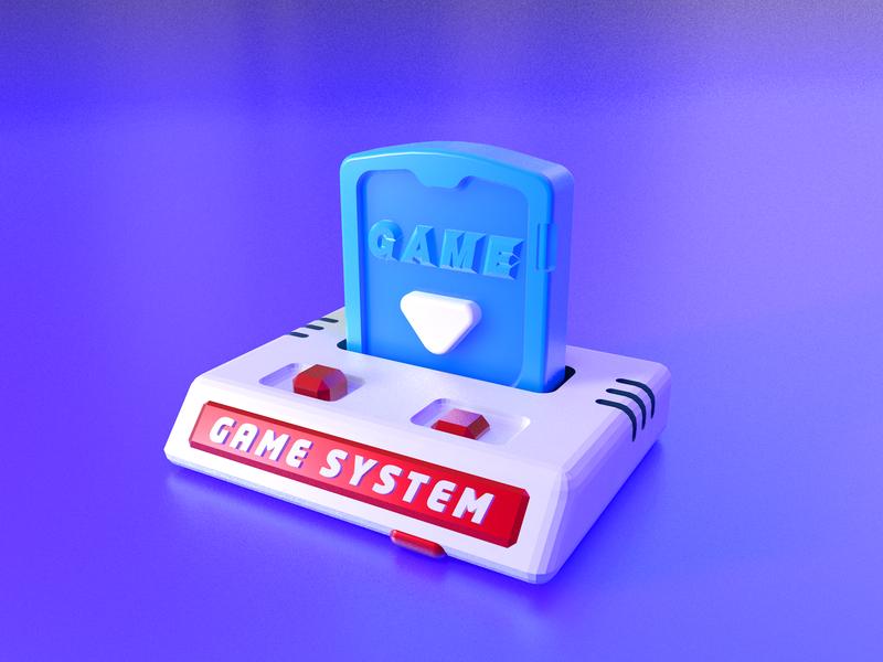 3D game system game illustration 品牌 icon 3d c4d ui 设计