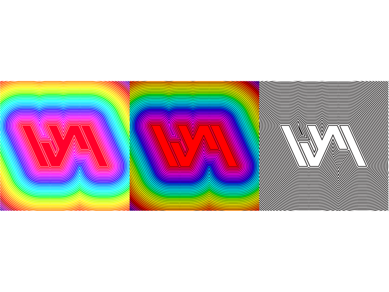 logo design WYM ui 2019 插图 logodesign 炫彩 彩色 商标 字形 品牌 设计