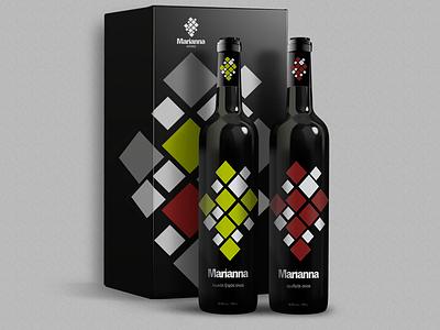 Marianna Winery Packaging box bottles packaging wine branding logo