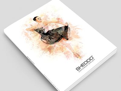 Sheddo Catalogue Cover editorial book dance ballet illustration product catalogue branding