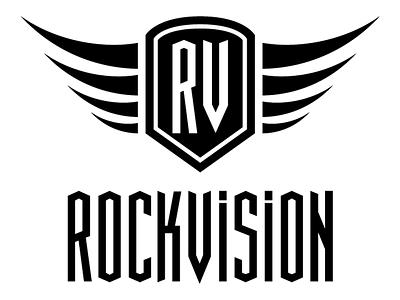 Rockvision Logo rockvision vision t-shirt. music metal rock e-shop branding logo