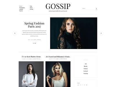 Kallyas Gossip Blog editorial magazine newspaper news blog website interface graphicdesign webdesign user theme wordpress