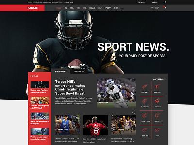 Kallyas Sport News Magazine wordpress theme user magazine webdesign graphicdesign interface website blog news newspaper