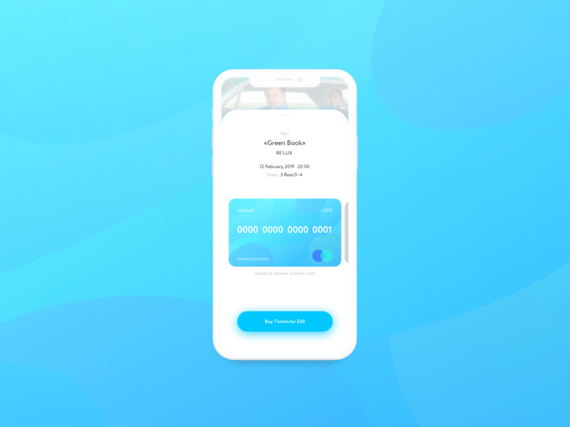 Credit Card Checkout dailyui card buy tickets tickets cinema credit card checkout credit card form credit card blue vector ux ui mobile application illustration design concept color avekarma app