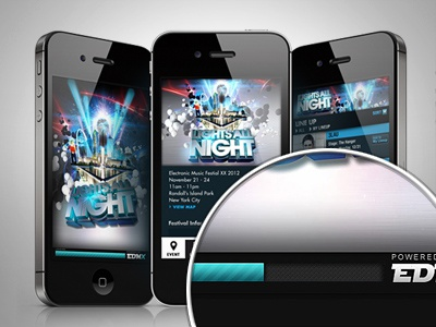 Lights All Night iphone music app loader texture ios userinterface menu ui