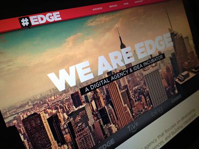 EDGE website texture image web design adaptive userinterface navigation corporate
