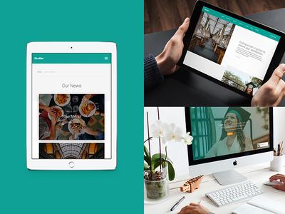 Studies – Education Website Template template webflow study education college webdesign theme