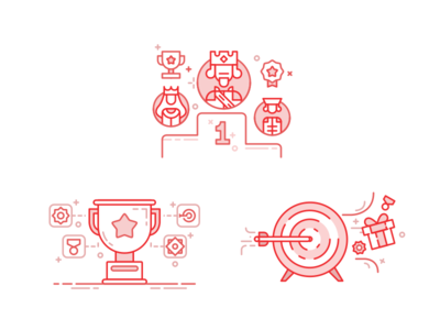 Various Gamification Illustrations (3)