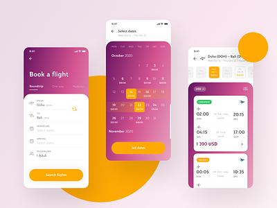 Qatar Airways App ui design design concept clean flight app app airways qatar mobile mobile app interface ux ui