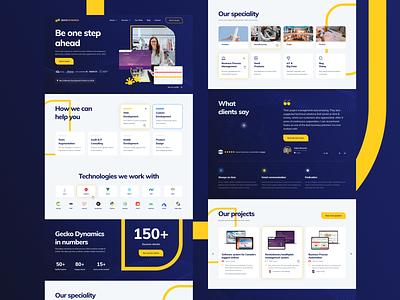 Gecko Dynamics Website visual design company corporate ux design ui design web design design website