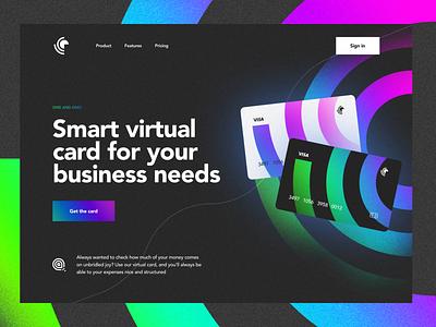 ~ online banking website – credit cards ~ ui design bank app card design geometric abstract gradients visual landing page web design design website credit cards banking online banking