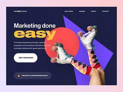 ~ digital marketing landing page ~ digital visual design web design web ui light dark hero section landing page website marketing