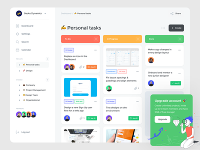 ~ task manager web app ~ yellow green minimalistic clean management task board app ux design ui design interface product design web app task app task manager