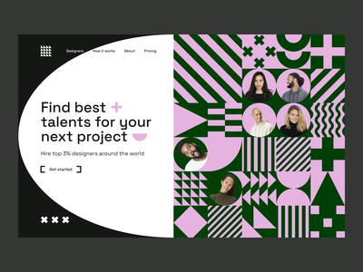 ~ find best talents website ~ abstract concept ui design shapes geometry visual web design website design clean people hiring find talents talent team