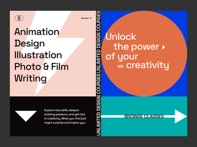 ~ creative online learning ~ typography visual design ui design grid geometry colorful shapes abstract design creative fields online learning learning creative