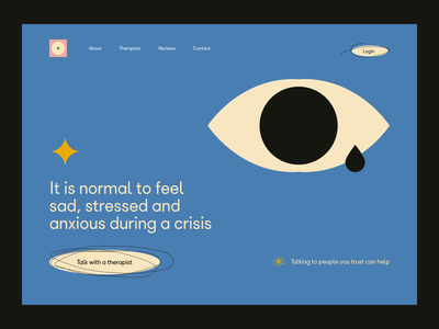 ~ mental health –website ~ psychology mentalhealth mental health awareness clean ui design illustration visual therapy anxiety mental wellness wellbeing minimalistic blue abstract web design website design website mental health