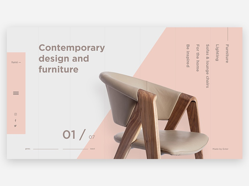 Design & Furniture e-commerce shopping furniture minimal design web design ux ui