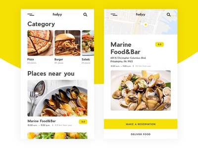 Restaurant App tasty interface ux ui clear minimal restaurant delivery food mobile app