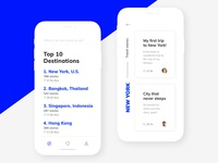 Travel App for IPhone X trip guide travel ui design ux ui typography interface iphone x iphone