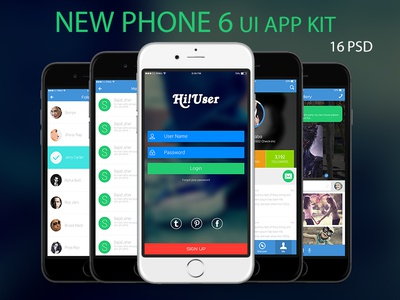 New Phone 6  Ui App Kit