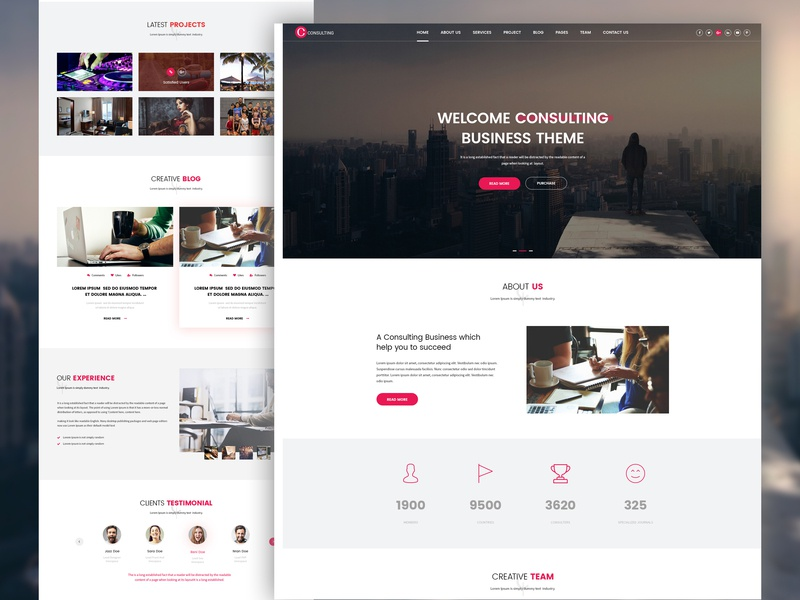 Consulting Psd Template theme design themeforest website design constellation psd template website