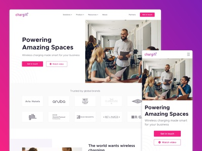 Website Re-design minimal clean startup landing page startup design web