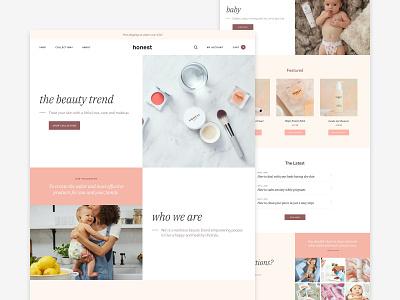 Beauty Theme beauty store clean ui shop theme homepage ecommerce