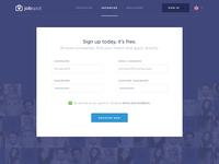 Jobspot Register UI