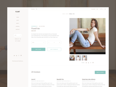 Product page nav sidebar grid theme shop minimal ui
