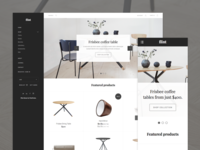 Home desktop + mobile
