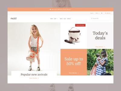 Grid homepage layout