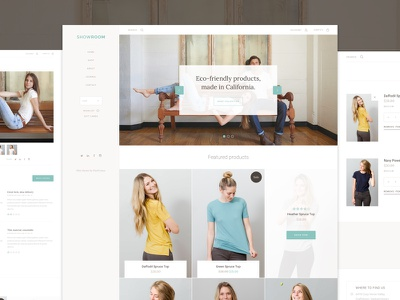 Showroom theme web ui store clean interface ecommerce theme