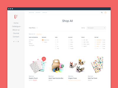 Collections page fresh clean design web ux ui
