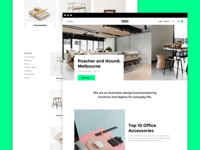 Paris theme weebly web ux ui theme fresh ecommerce design clean