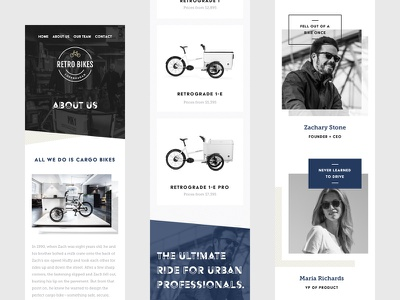 Mobile screens mobile theme bike bold simple modern design web ux ui