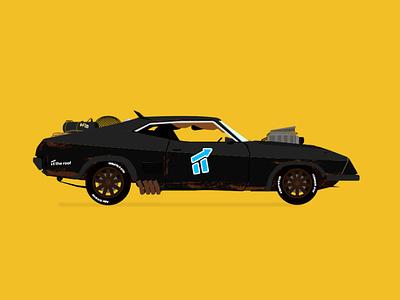 mad max car vector illustration car mad max marketing illustrator madmax