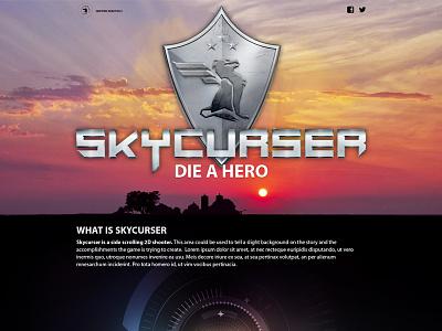 Skycurser logo design web hud ui ux