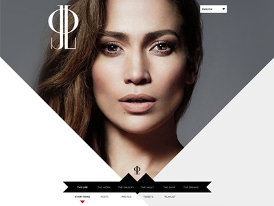 jennifer lopez unused comps jennifer lopez jlo mock uxui design web