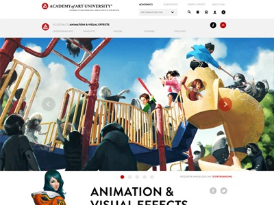 academy of art university academy of art academy of art redesign aau web design uxui mock