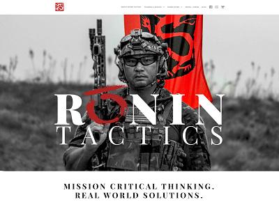 Ronin Tactics illustrator photoshop web webdesign