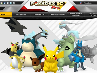 12 Pok 323 Pkedex 3d Pro Homepage V02.06 web web design pokémon parallax 3d photoshop illustrator design