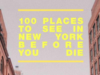 NY Bucket List