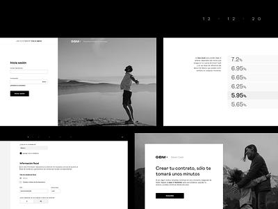 + .-. simple fintech design ui