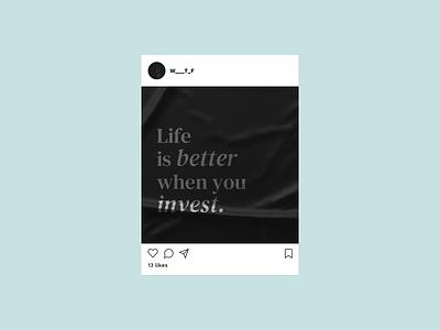 Nstgrm. instagram social media fintech dailyui design