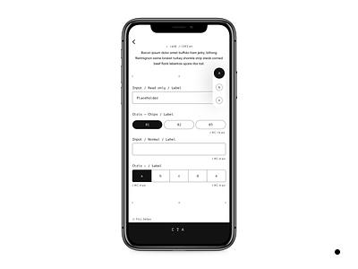 DP-01 design app components webdesign iphone x wireframe
