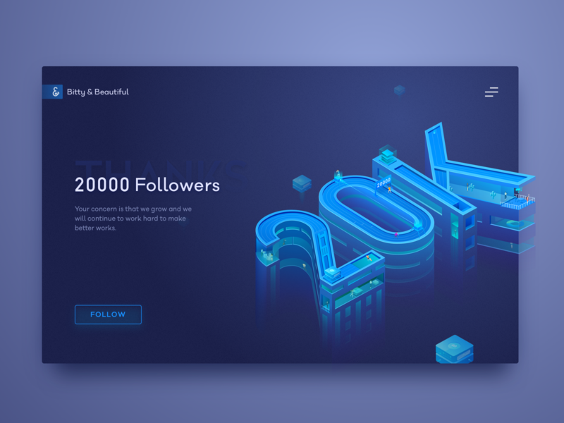 Celebrate 20K Fans of Team B&B 20k illustration ui