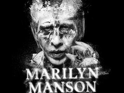 Marilyn Manson - Lines design graphicdesign merchandise