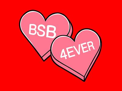 Backstreet Boys - 2020 Valentines Merch line merchandise graphicdesign illustration