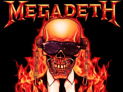 Megadeth - Vic Flames merchandise graphicdesign illustration digitalpainting megadeth