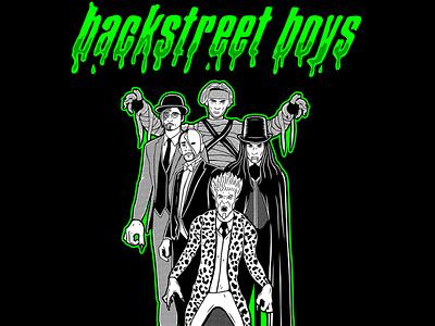 Backstreet Boys - Halloween 2020 characterdesign halloween horror lettering illustration merchandising bsb backstreetboys